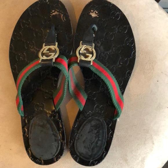 edf768d96 Gucci Shoes - Gucci Women s GG Thong Sandals
